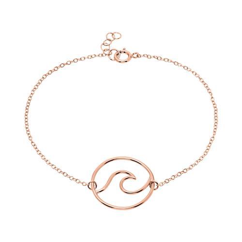 Armband Welle für Damen 925er Silber rosévergoldet