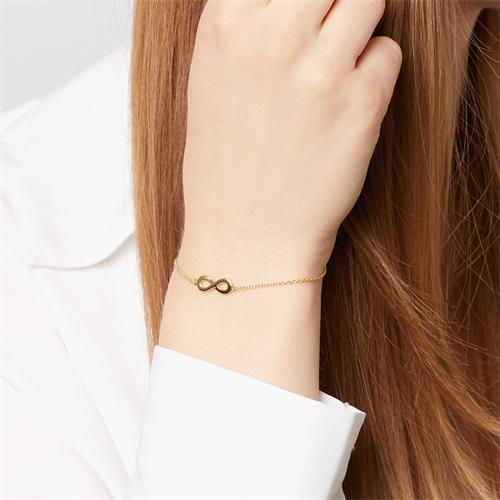 Vergoldetes 925er Silberarmband Infinity