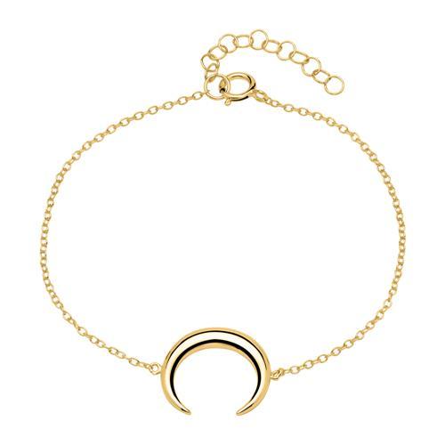 Halbmond Armband aus vergoldetem 925er Silber