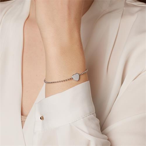 Herzarmband aus Sterlingsilber gravierbar