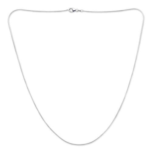 925 Silberkette: Schlangenkette Silber 1,0mm