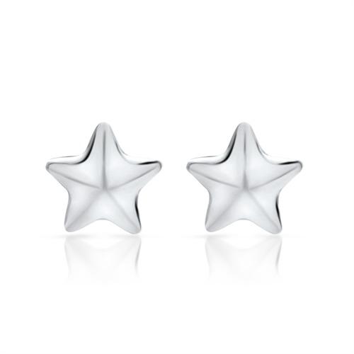 Sternenohrstecker aus 925 Silber