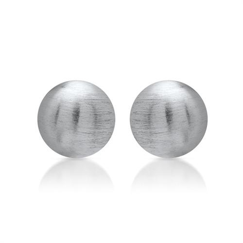 Ohrstecker aus Silber, mattiert