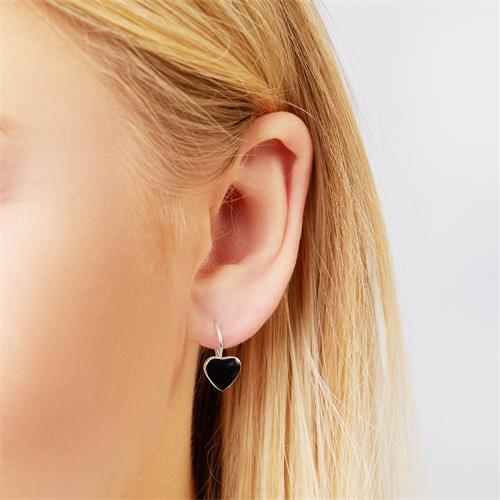 Herz Ohrhänger 925 Sterling Silber