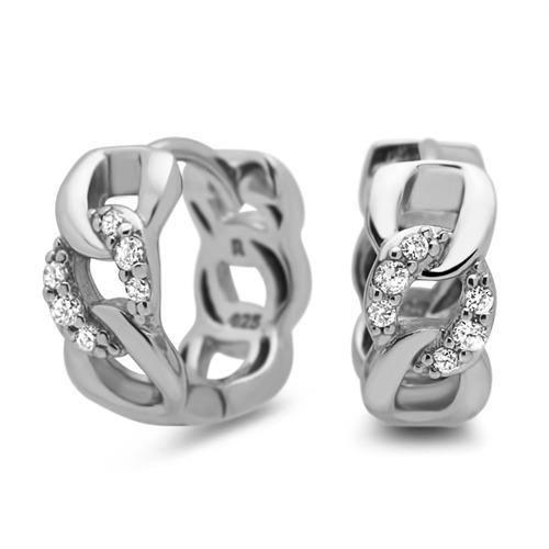 Creolen 925 Silber gliederförmig Zirkonia