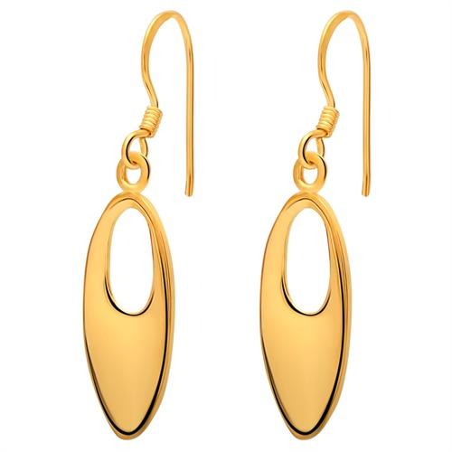 Vergoldete Ohrhänger 925 Silber modern