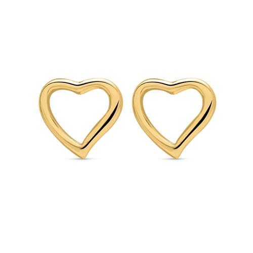 Ohrstecker gelbvergoldet 925er Silber Herz