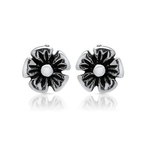 Feine Ohrstecker 925er Silber Blumen-Blüte
