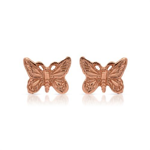 Ohrschmuck Silber rosé vergoldet Schmetterling
