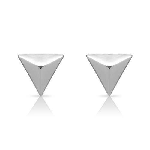 Ohrstecker in Pyramidenform 925er Silber