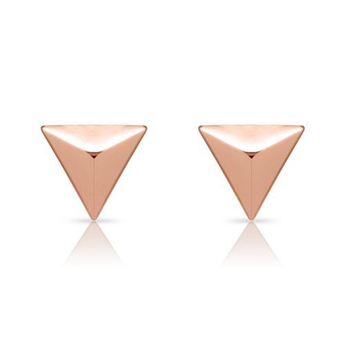 Pyramiden-Ohrstecker 925er Silber rosévergoldet