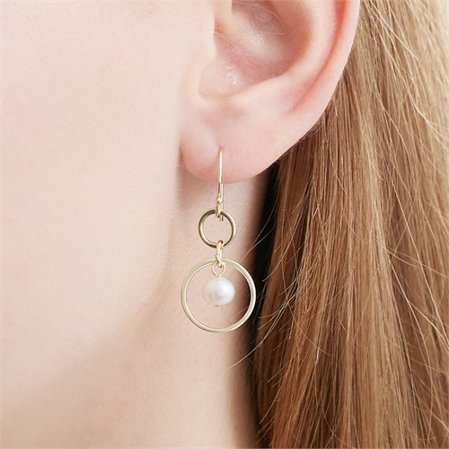 Vergoldete 925er Silber Ohrhänger mit Süßwasserperlen