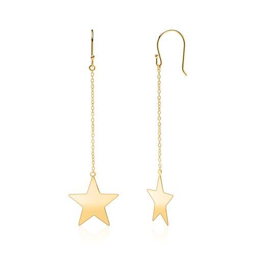 Ohrhänger Sterne aus vergoldetem 925er Silber