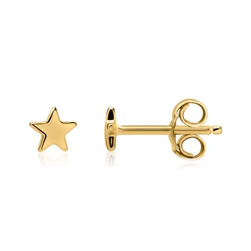 Vergoldete 925er Silber Ohrstecker Sterne