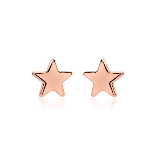 Ohrringe - Stern Ohrstecker aus rosévergoldetem 925er Silber  - Onlineshop The Jeweller