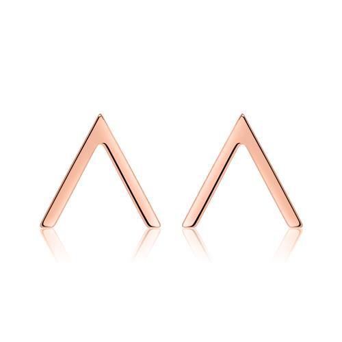 Ohrringe - Ohrstecker V Design aus rosévergoldetem 925er Silber  - Onlineshop The Jeweller