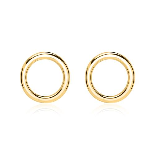 Ohrstecker Kreise aus vergoldetem 925er Silber