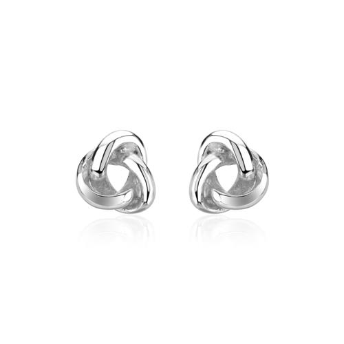 Ohrringe - Ohrstecker Knoten für Damen aus Sterlingsilber  - Onlineshop The Jeweller