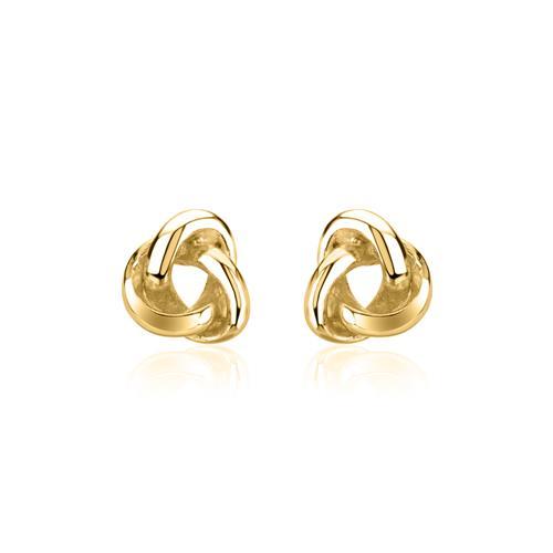 Knoten Ohrstecker für Damen aus 925er Silber, vergoldet