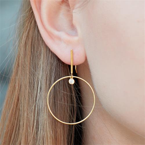 Damen Ohrhänger aus vergoldetem 925er Silber Zirkonia