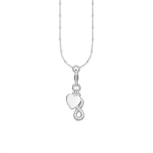 Charm Kette Herz mit Infinity 925er Silber