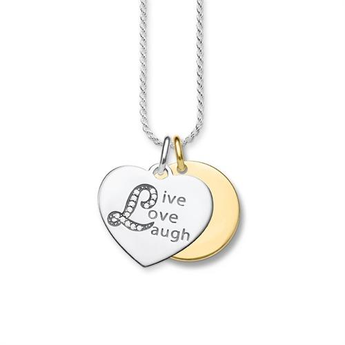 Kette Live Love Laugh 925er Silber Zirkonia