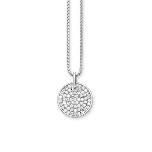 925er Silberkette Sparkling Circles Coin