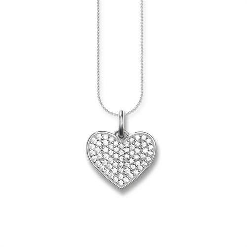 Kette Herz aus 925er Silber und Zirkonia