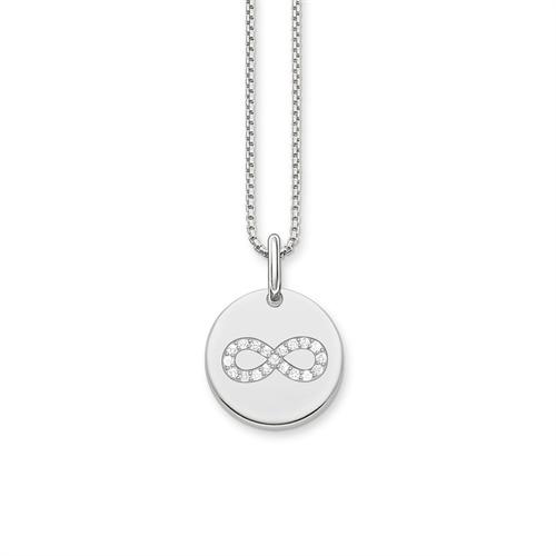 Kette Infinity Coin aus 925er Silber