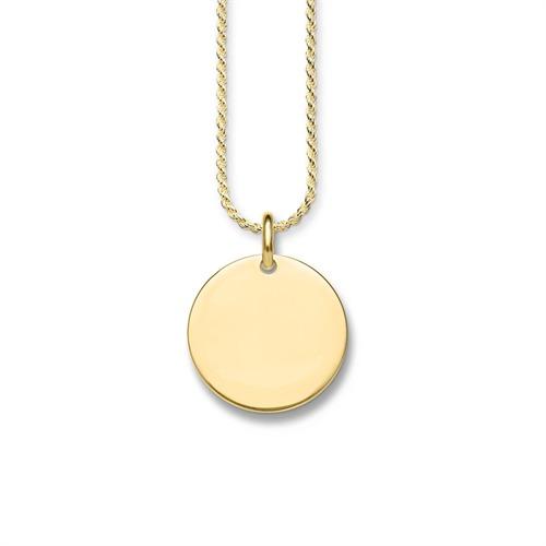 Vergoldete 925er Silberkette gravierbar