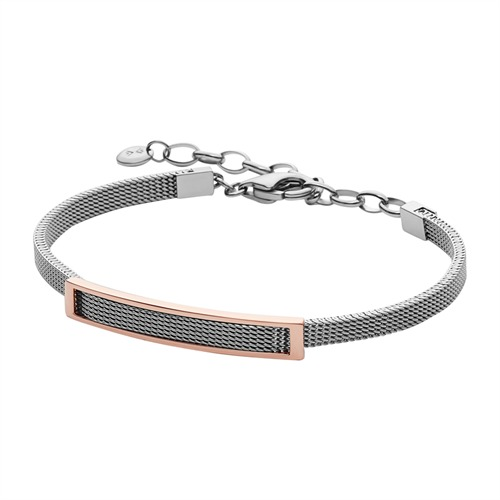 Armband silber rosé Mesharmband