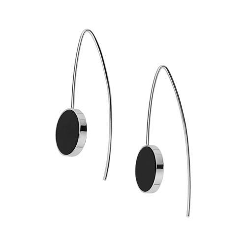 Ohrhänger silber mit schwarzen Stein
