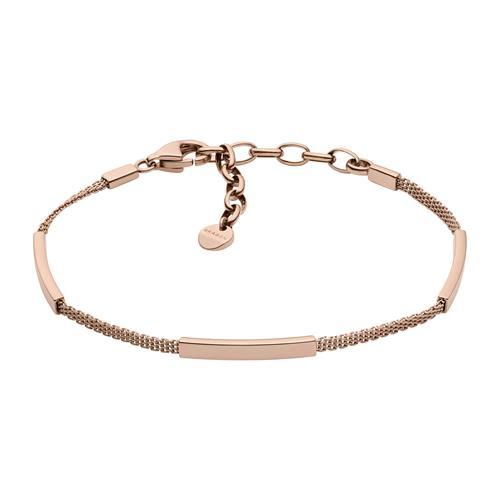 Damenarmband Merete aus rosévergoldetem Edelstahl