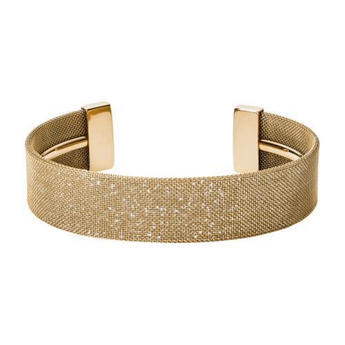 Armbaender - Mesh Armreif Merete aus vergoldetem Edelstahl  - Onlineshop The Jeweller
