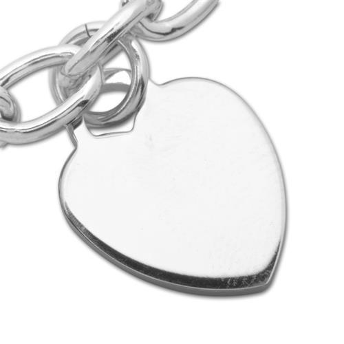 Halskette 925 Silber mit Herzanhänger