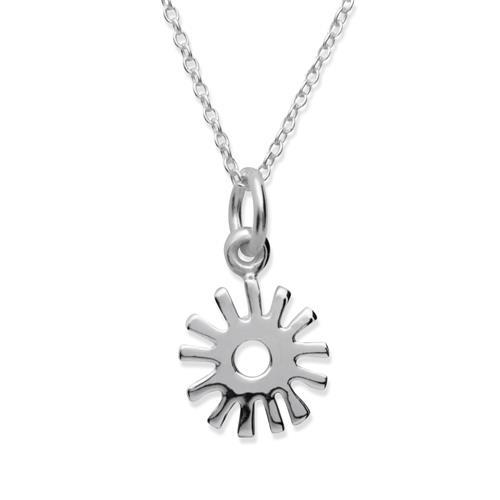 925 Silberkette mit Sonnenanhänger