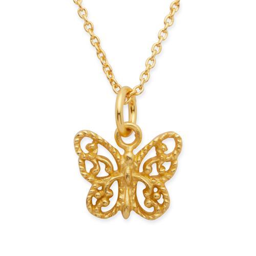 Vergoldete Silberkette Schmetterlinganhänger