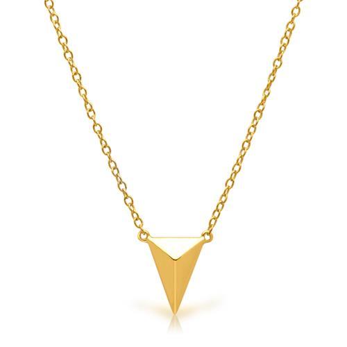 Kette geometrischer Anhänger Silber vergoldet
