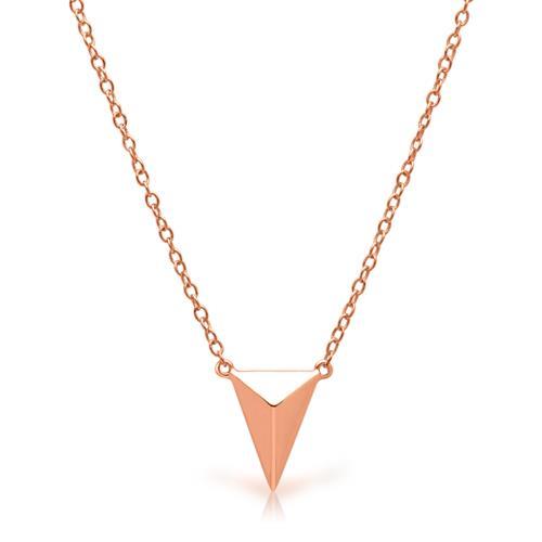 Kette geometrischer Anhänger Silber rosévergoldet