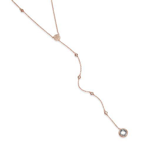 Rosévergoldete Kette 925er Silber y-förmig