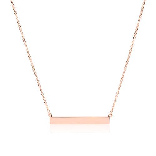 Kette 925er Silber rosévergoldet Gravur