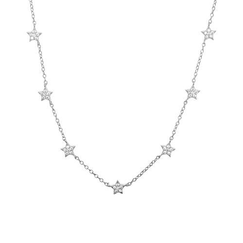Kette Sterne aus 925er Sterlingsilber mit Zirkonia