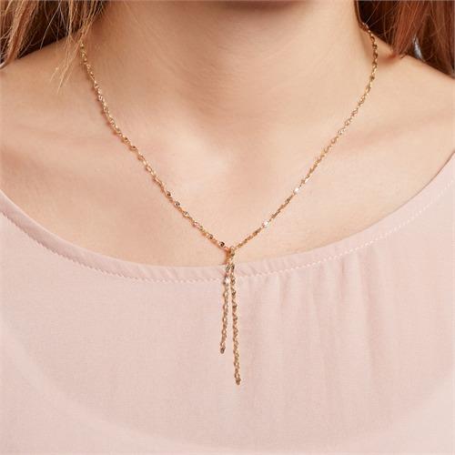 Halskette aus vergoldetem Sterlingsilber
