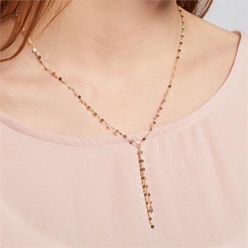Plättchenkette für Damen aus 925er Silber vergoldet