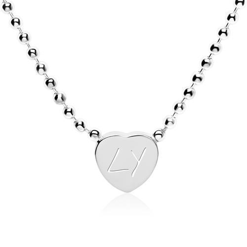 Herzkette aus 925er Silber mit Gravuroption