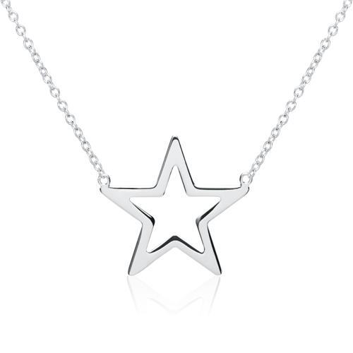 Kette Stern aus 925er Silber