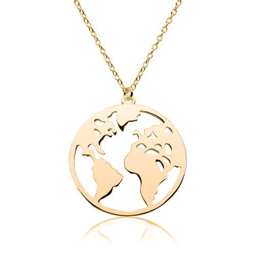 Weltkette aus vergoldetem Sterlingsilber
