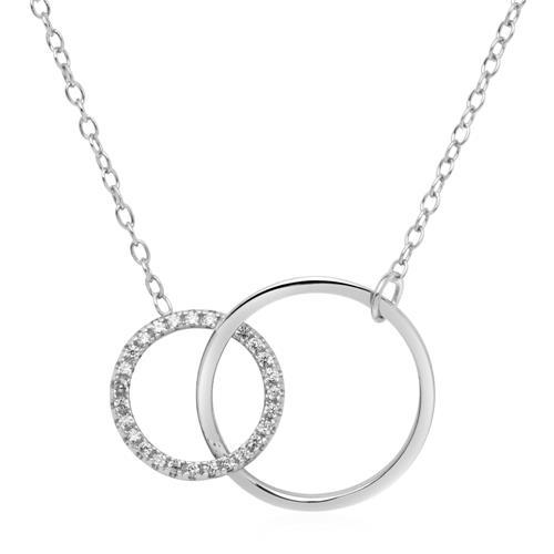 Kette Kreise aus 925er Silber mit Zirkonia