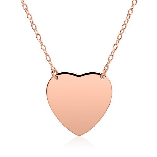 Herzkette aus rosévergoldetem Sterlingsilber gravierbar