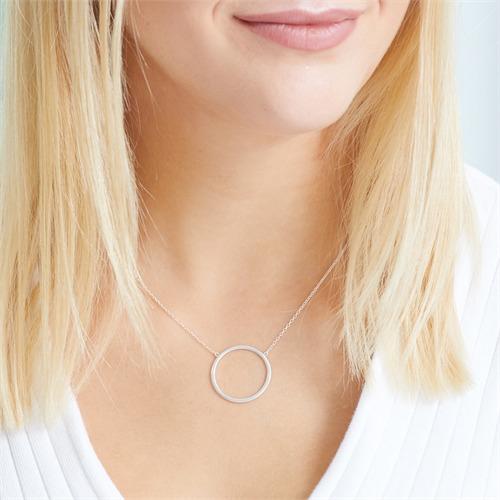 Kreiskette aus 925er Sterlingsilber